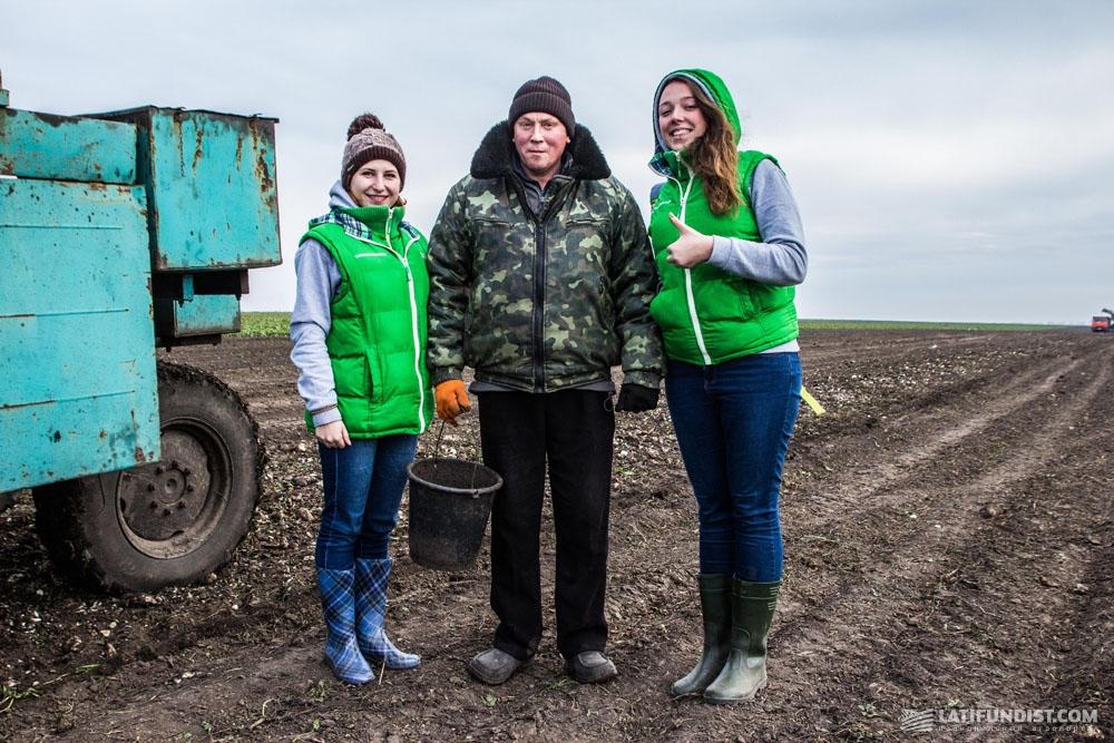 АгроЭкспедиторы на полях фермерского хозяйства «Дослидне»